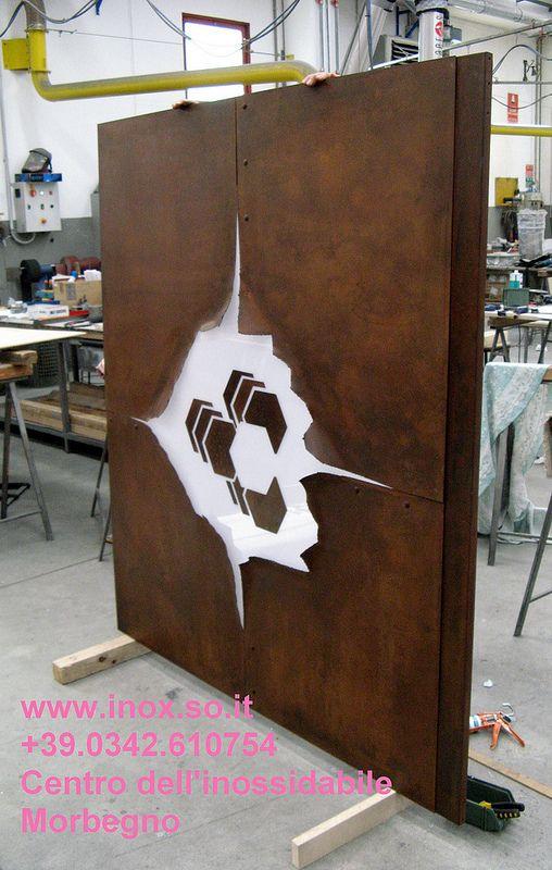 Lavorazione corten ferro inox a Morbegno. www.inox.so.it