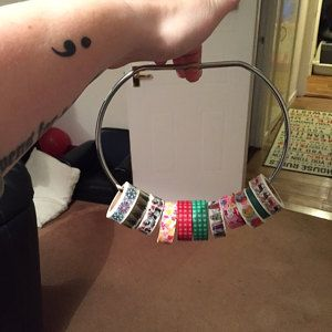 One of my #washi #storage hoops at home with its new owner! [Customer photo].