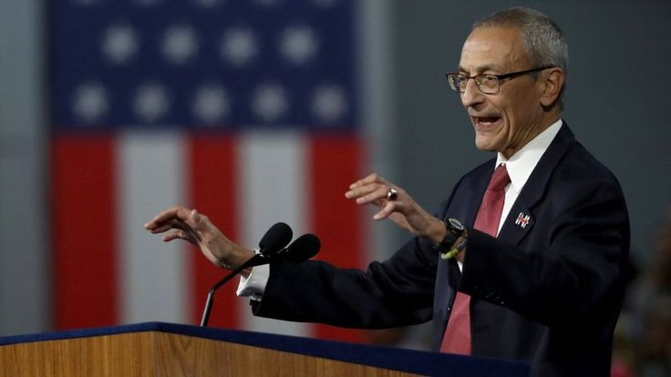 """John Podesta calls President Trump a """"whack job"""" after he suggests he thwarted a probe into hacking."""