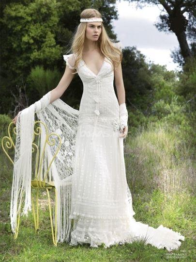 Vestido estilo hippy con detalles de ganchillo de Somnis Mediterranis   Foto 1