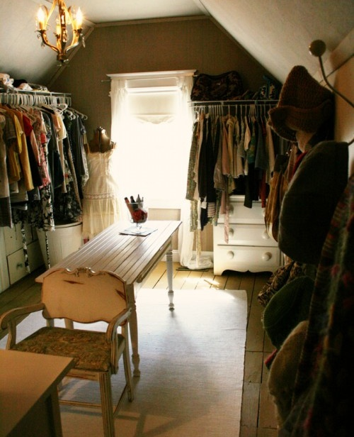 Why not make that small extra room a dressing room closet?