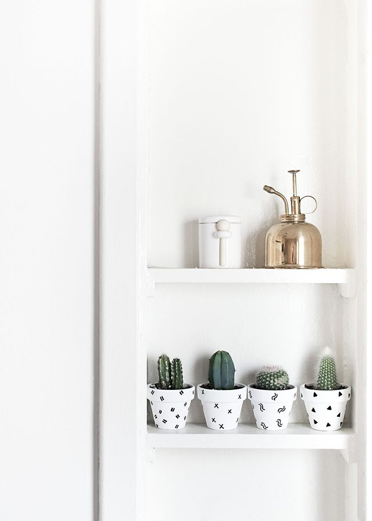 DIY Mini Patterned Plant Pots
