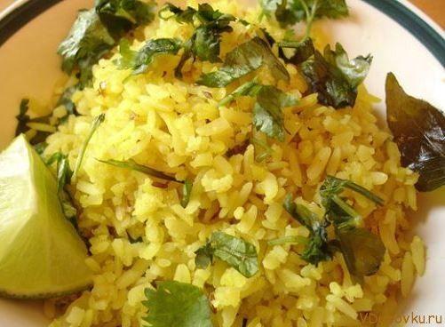 Вегетарианские и веганские рецепты / Лимонный плов или нимбу чавал