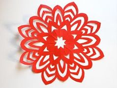 Create our own 5 and 8 point paper snowflakes!