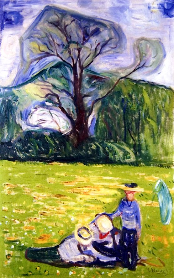 bofransson: Spring in Dr. Linde's Garden Edvard Munch - 1903