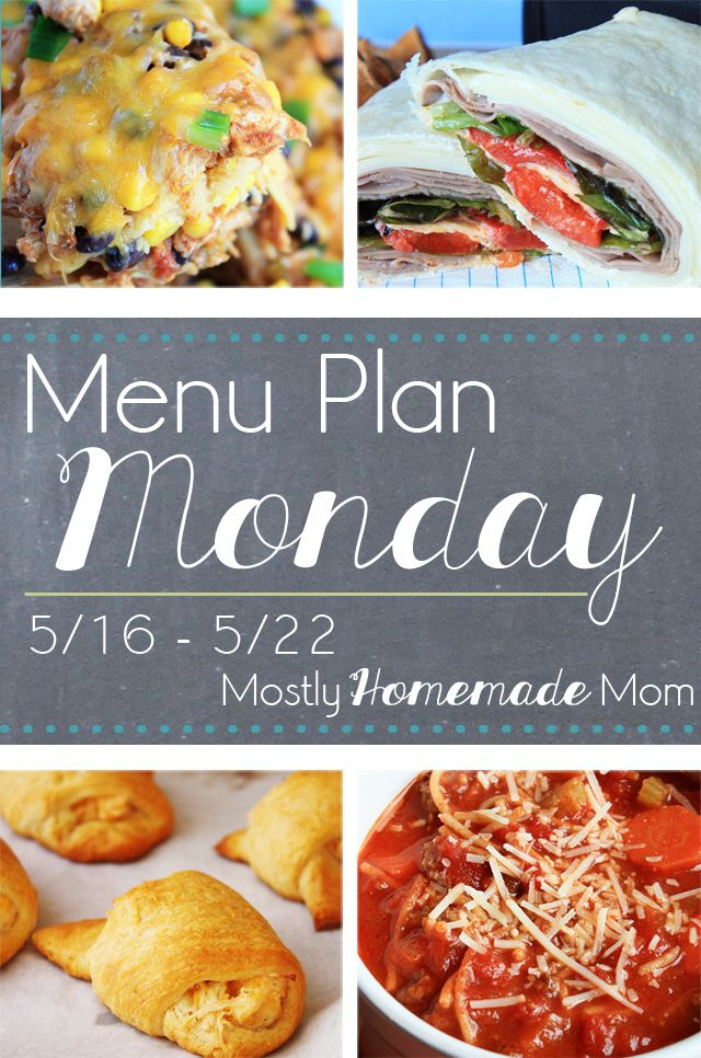 Menu Plan Monday May 2016 - LOTS of spring dinner recipe ideas here! Save money this week and EAT IN!