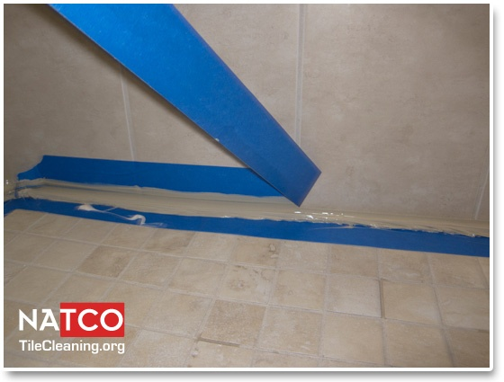 Removing Shower Caulking Tape