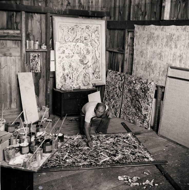 Jackson Pollock, c. 1947,  Photo by Herbert Matter, Archives of American Art