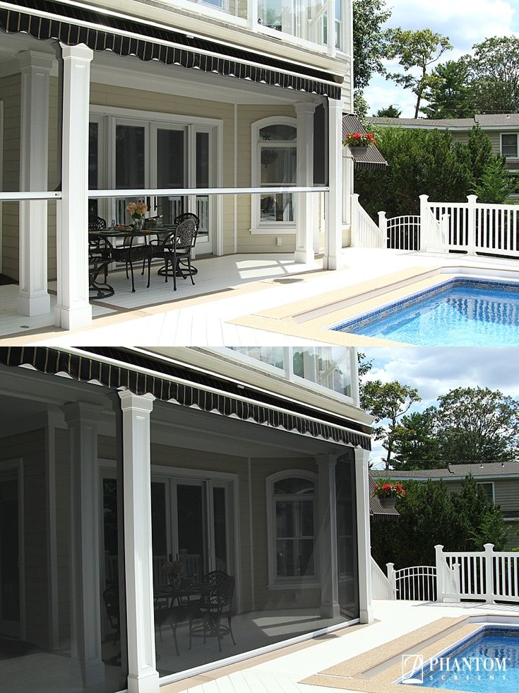 Best 25 retractable screens ideas on pinterest for Motorized retractable screens for porches