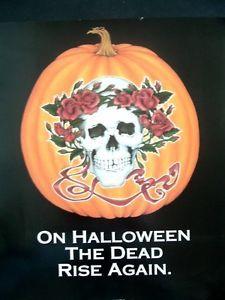 grateful dead poster images | Grateful-Dead-Halloween-original-1989-promo-poster-eighties-music ...