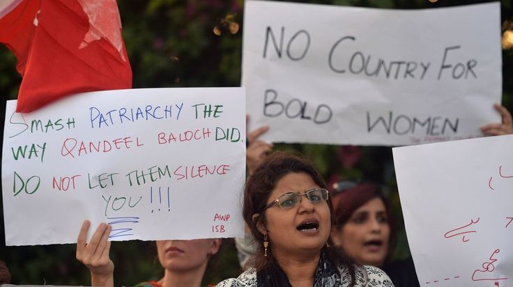 Pakistan bars social media star Qandeel Baloch's family from forgiving her brotherPakistani civil society activists carry placards during a protest in Islamabad on July 18 2016 against the murder of social media celebrity Qandeel Baloch by her own brother.  Image: AAMIR QURESHI/AFP/Getty Images  By Sonam JoshiIndia2016-07-19 12:52:05 UTC  In an important step against honour killings Pakistani authorities have barred the parents of slain social media celebrity Qandeel Baloch from forgiving…