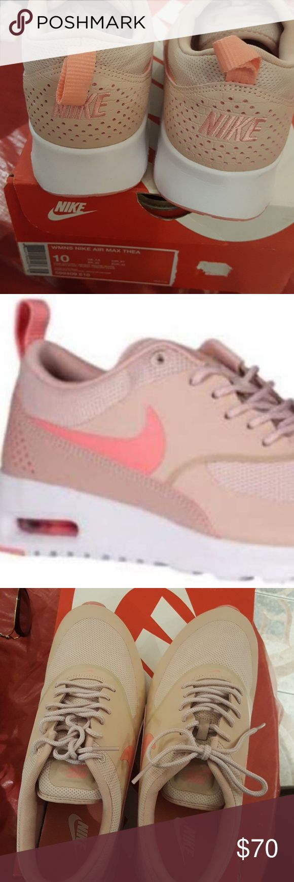 Womens Nike Air Max Thea New pink rose oxford/bright melon white Nike size 10 Nike Shoes Sneakers