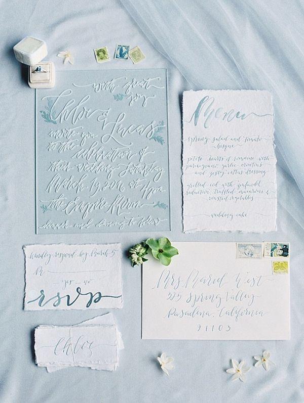 Acrylic Calligraphy Wedding Invitations
