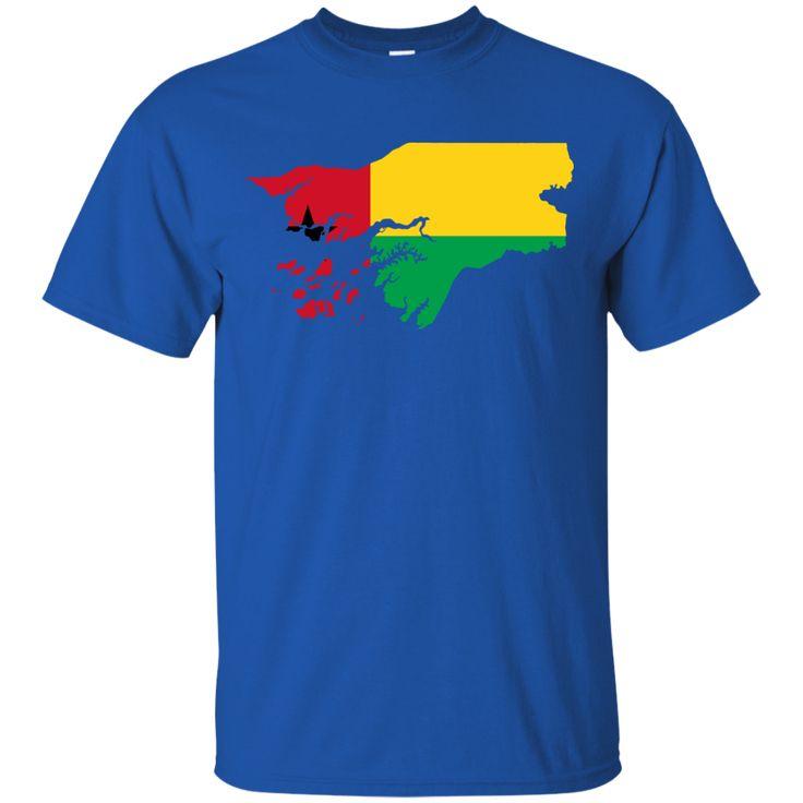 Guinea map flag