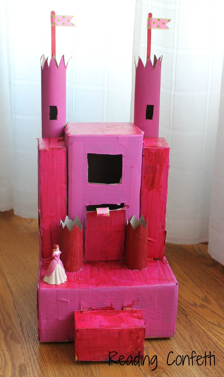 Reading Confetti: Make Your Own Cardboard Castle {Recycling}