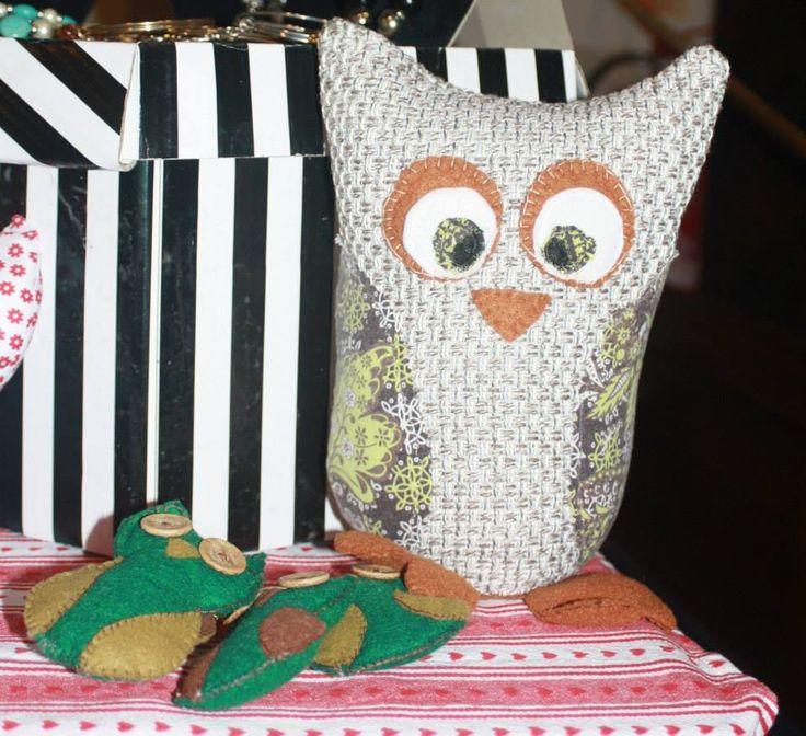 Peony Peony Owl Doorstop.