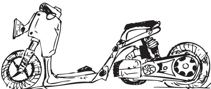 Honda Ruckus Drawing Cool Bikes Pinterest Honda