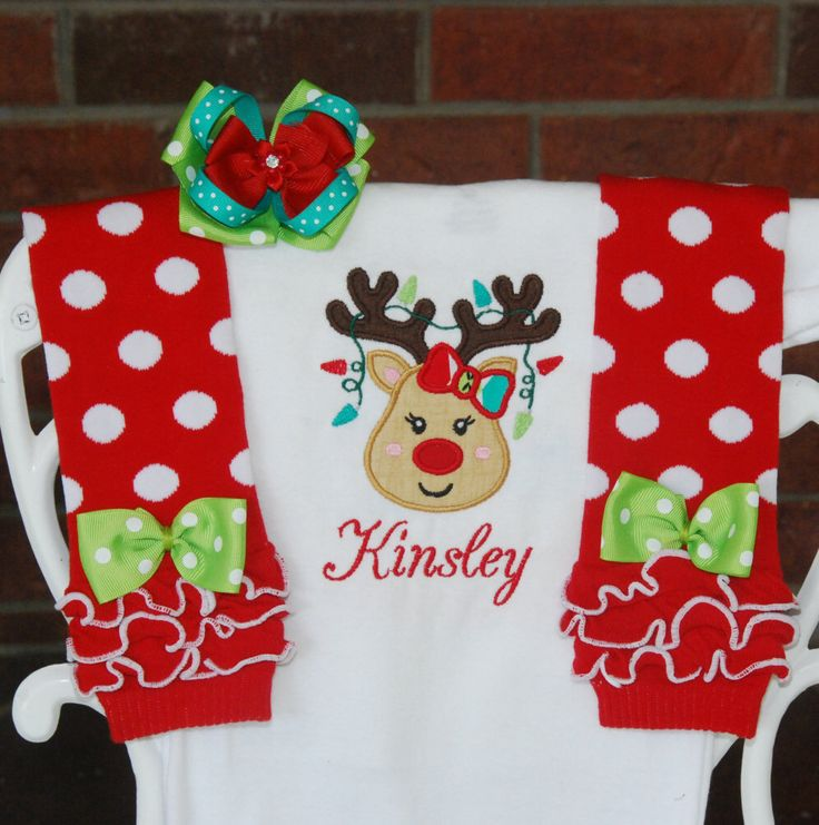 Baby Girl Christmas Outfit! Reindeer Christmas outfit for baby girls/ Baby Girl Christmas Outfit/Reindeer Christmas Outfit/1st Christmas by RuffleDarlings on Etsy https://www.etsy.com/listing/242306093/baby-girl-christmas-outfit-reindeer