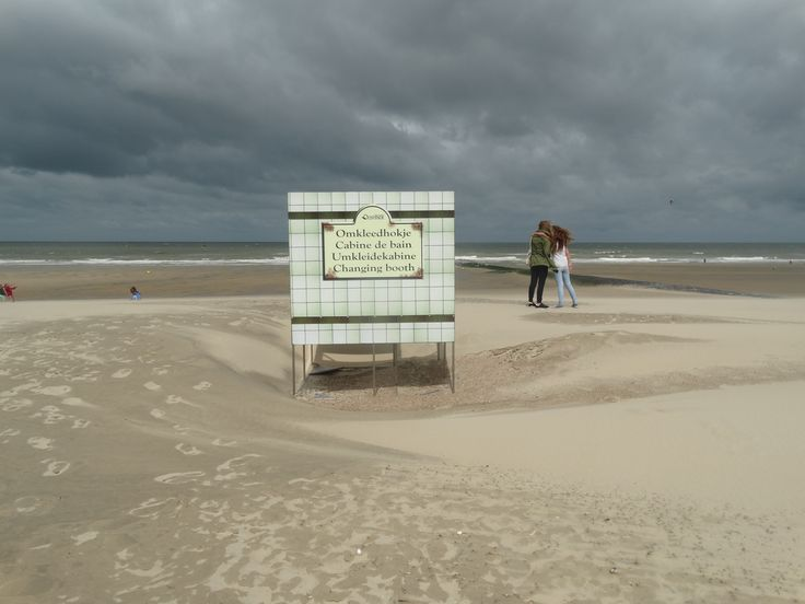 kleedhokje op het strand