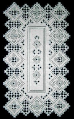Antique Rose Runner in Hardanger