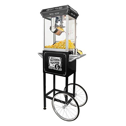 Buy FunTime Sideshow Popper 4-Ounce Hot Oil Popcorn Machine with Cart, Black/Silver - Topvintagestyle.com ✓ FREE DELIVERY possible on eligible purchases
