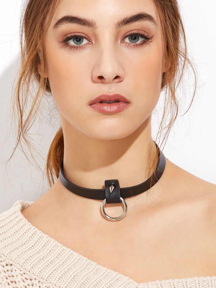 Shop Black PU Leather Hollow Circle Spike Choker Necklace online. SheIn offers Black PU Leather Hollow Circle Spike Choker Necklace & more to fit your fashionable needs.