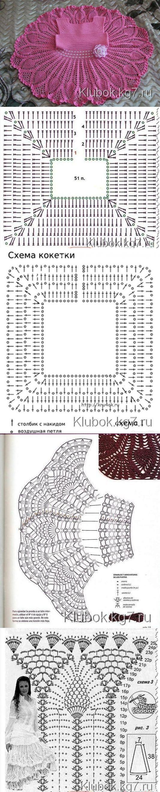 ПЛАТЬИЦЕ ДЛЯ ДЕВОЧКИ. МАСТЕР- Наталья Крутий (Канунникова) | Клубок [] #<br/> # #Baby #Dresses,<br/> # #Crochet #Dresses,<br/> # #Crochet #Baby,<br/> # #Crochet #Patterns,<br/> # #Crochet,<br/> # #Tissue,<br/> # #Blouses<br/>