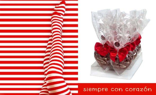 Figura de chocolate belga para San Valetin en forma de corazón. Un diseño actual, envuelto en celofan y con un lazo rojo. Un pequeño detalle de 60 gr.