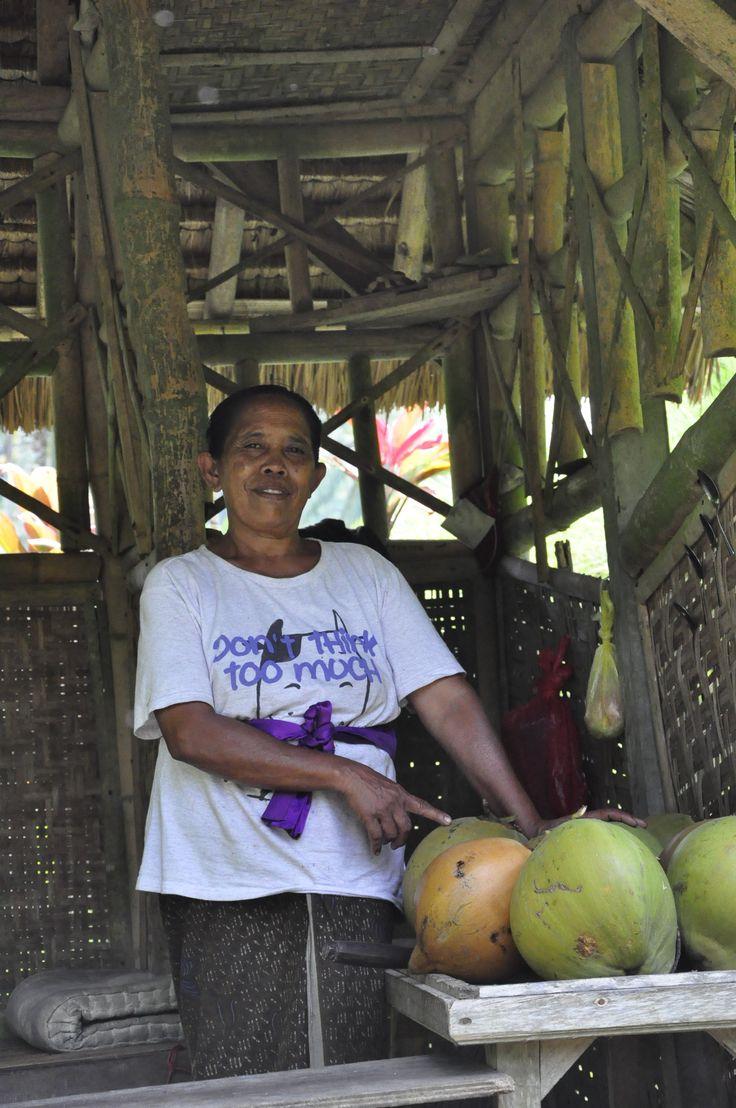 penjual kelapa
