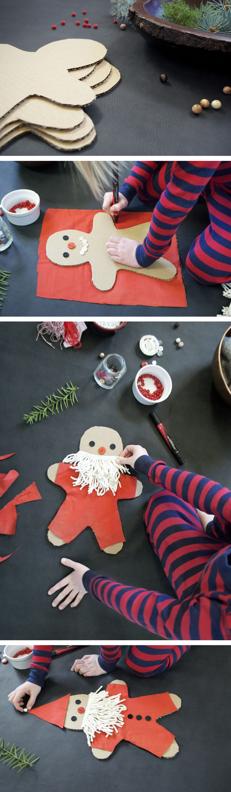 Mer Mag Cardbaord Gingerbread Santa DIY eine super süße Bastelidee für Weihnachten