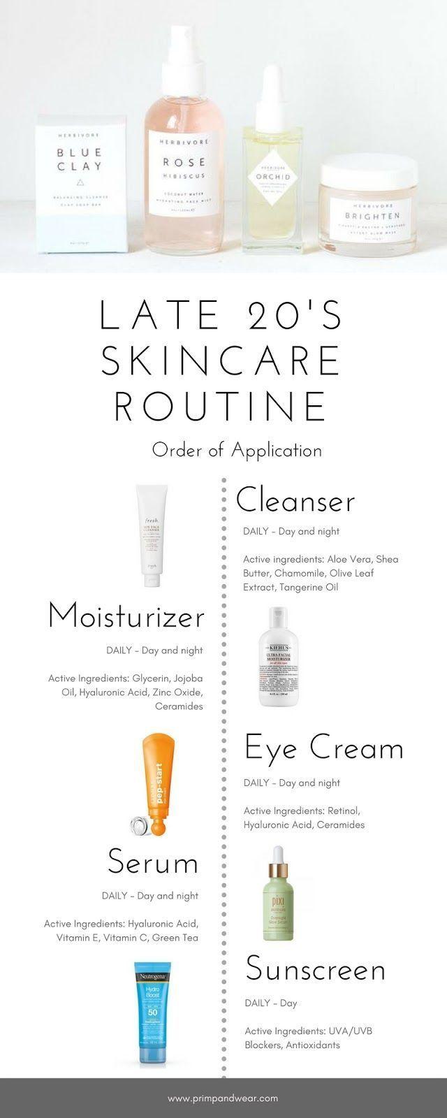 Primp Wear Late 20s Skincare Routine In 2020 Skin Care Natural Skin Care Skin Care Routine Order