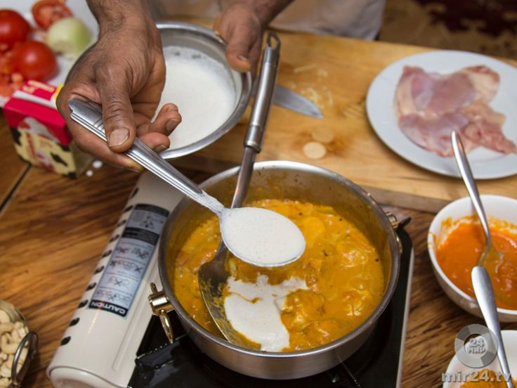 Курица с соусом карри: индийское блюдо