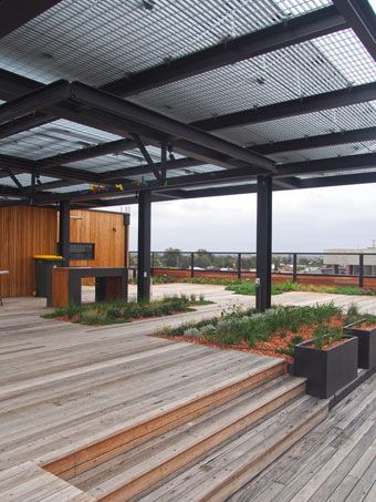 The Common Roof Space, With BBQ, Clothes Lines, Feature Garden Beds And A