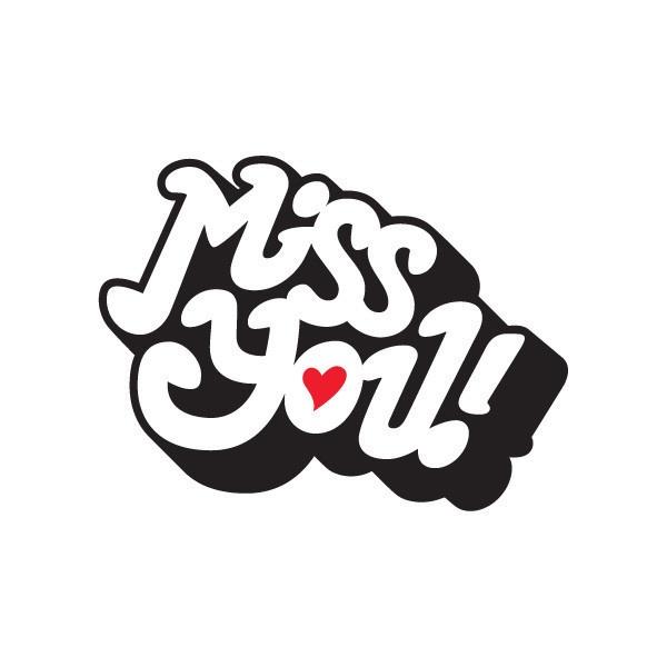 Miss You Temporary Tattoo www.lovemylove.com.au
