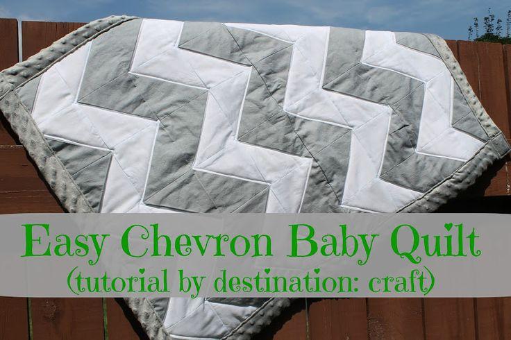 Destination: Craft: Easy Chevron Baby Quilt