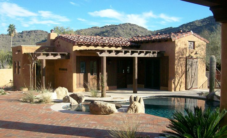 Mexican style homes casitas custom home builders and for Casita plans for homes
