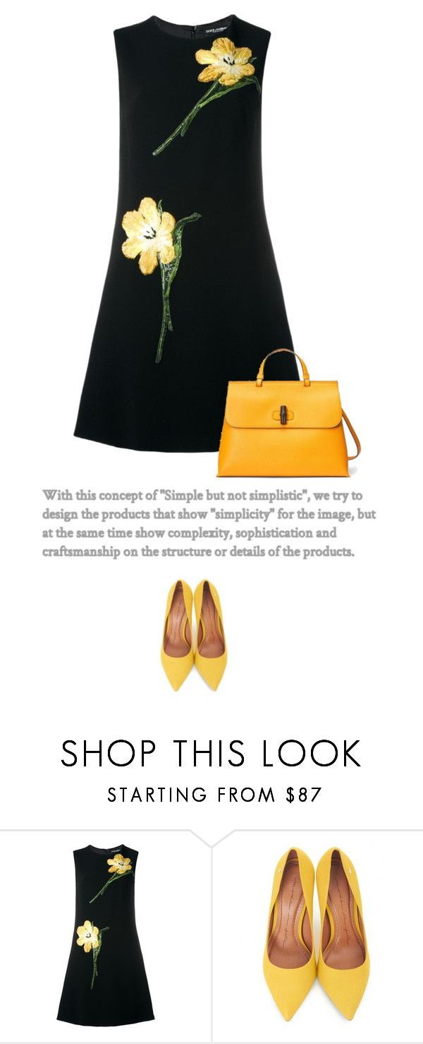 """""""Simply Yellow"""" by anja-173 on Polyvore featuring Dolce&Gabbana, Moda In Pelle and Gucci"""
