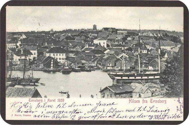 Tønsberg i Aaret 1859. Falck. St Vestb.P. A.3 -02.