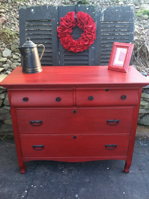 More red hot-Gorgeous!: Furniture Re Do, Painted Furniture, Furniture Makeover, Diy Furniture, Furniture Redo, Color, Red Dresser, Furniture Ideas