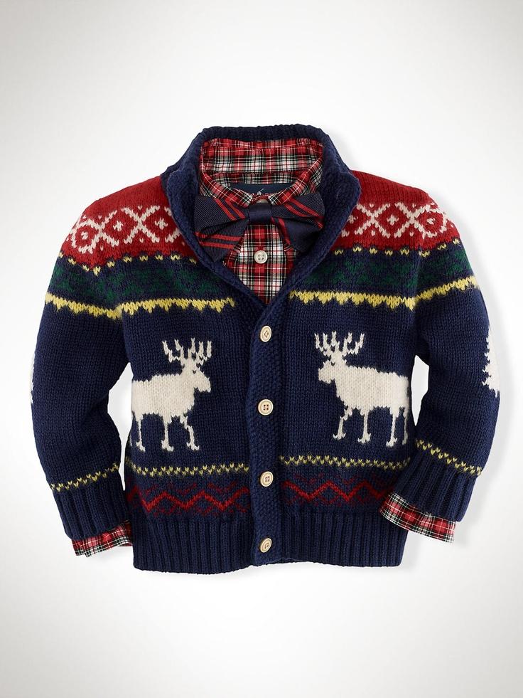 Reindeer Mockneck Sweater - Sweaters  Infant Boy (9M-24M) - RalphLauren.com