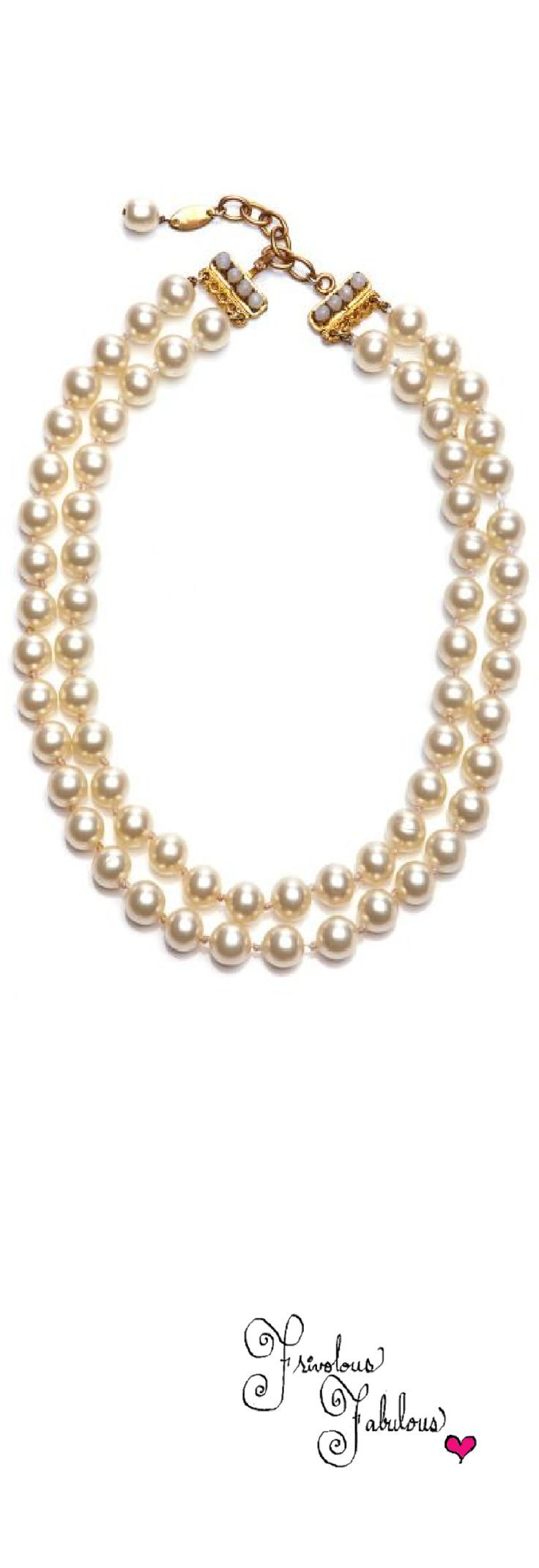 ~Frivolous Fabulous - Chanel Double Strand Pearl Necklace Vintage   House of Beccaria