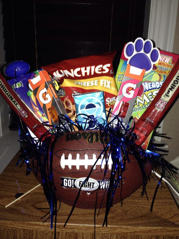 Best 25 Football Gift Baskets Ideas On Pinterest Candy