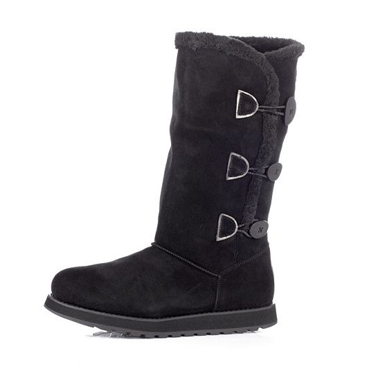 Skechers Keepsakes Appeal Suede Boot with Faux Fur Trim & Memory Foam order online at QVCUK.com