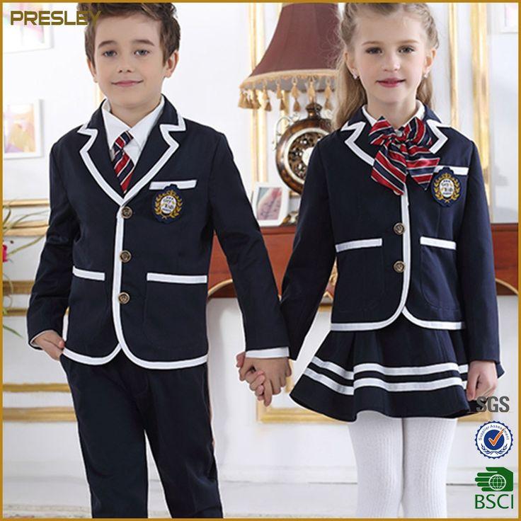Presley OEM Blazer Type Primary School Uniforms Kids School Uniform Designs