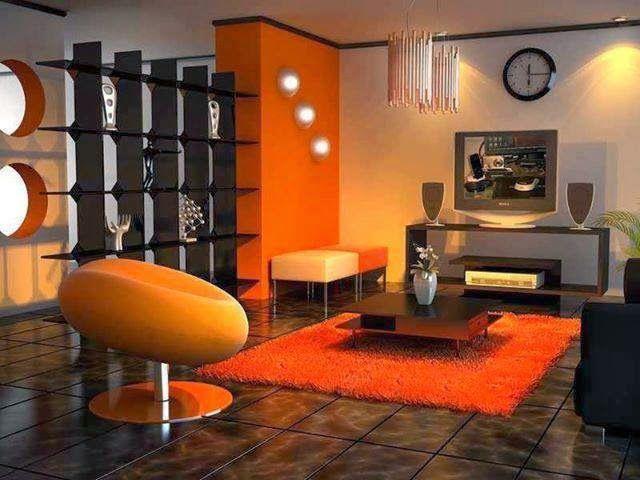 17 mejores ideas sobre salas naranja en pinterest for Combinacion de colores para sala comedor