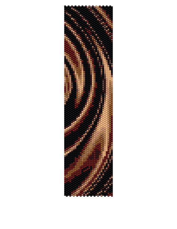 Peyote Bracelet Pattern  Chocolate Swirl Buy 2 by KFSDesigns, $6.50