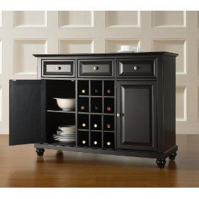 Crosley Furniture KF42001DBK Cambridge Buffet Server Cabinet $391.99