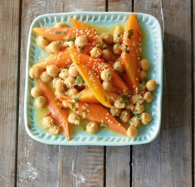 Möhren-Kichererbsen-Salat Rezept - [ESSEN UND TRINKEN]