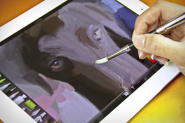 Sensu Brush: smart tool combines a rubber-tipped digital stylus with a capacitive paintbrush in a single, sleek, silver package that gives you all the feeling and responsiveness of a real brush without the mess. Available in May.: Ipad, Art, Brushes, Painting, Products, Stylus, Sensubrush