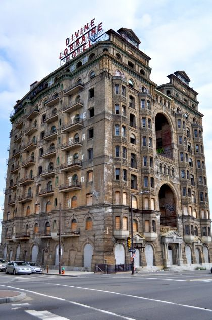 The Divine Lorraine Hotel in Philadelphia, PA. was built between 1892 and 1894.